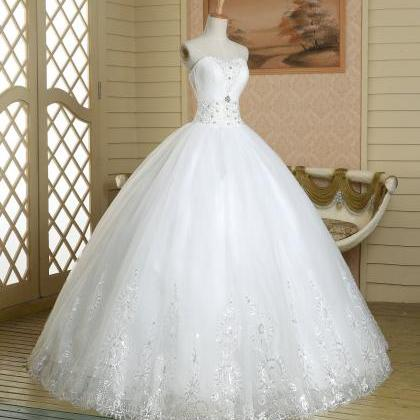 White pageant Quinceanera beaded cr..