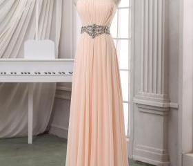 Pale pink pleated pr..